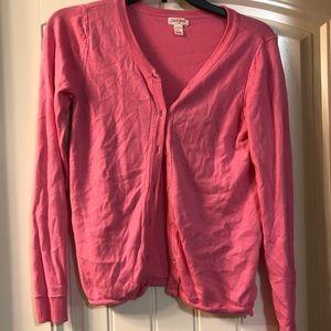 Girls pink cardigan